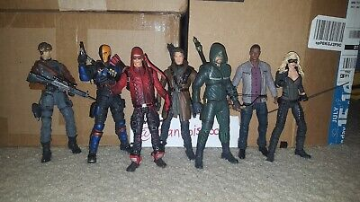 DC Collectibles Arrow Figure Lot Oliver Black Canary Merlyn Diggle Deathstroke +