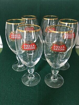 6 NEW Stella Artois Chalice 33CL Beer Glasses Pub,Bar,ManCave,Kentucky Derby 139