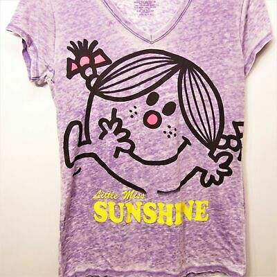 Mr Men Little Miss Sunshine Factory Burnout Tshirt Purple Size Xlarge