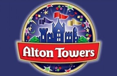 Alton Towers Sunday August 18 e-tickets x 4