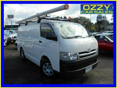 2010 Toyota HiAce TRH201R MY07 Upgrade LWB White Automatic 4sp A Van