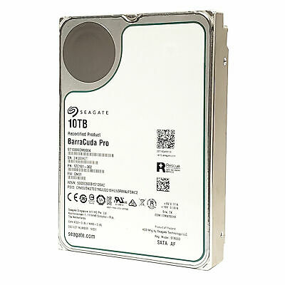 Seagate BarraCuda Pro ST10000DM0004 10TB Internal 3.5 SATA 6Gb/s 7200RPM HDD OEM