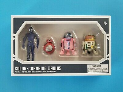 Star Wars 2019 Disney Galaxy's Edge Color-Changing Droid 4 Pack RA7 BB R2 C1