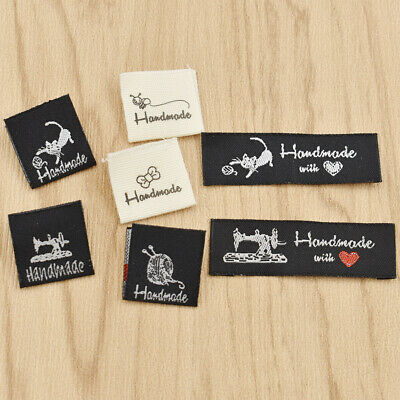 50 Pcs Washable Cloth Woven Labels Handmade Garment Tags Clothing Sewing Crafts