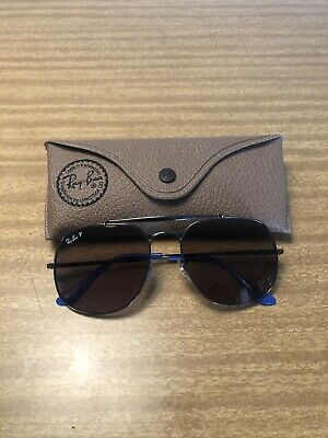 Rayban Generals Polarised Purple See Thru Lens Blue Temples Small Scuffs