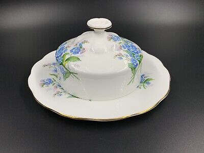 Royal Albert Forget Me Not Butter Dish with Lid Bone China England