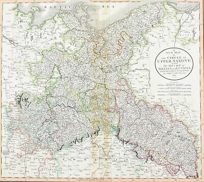 1808 Saxony Germany Cary Antique Map