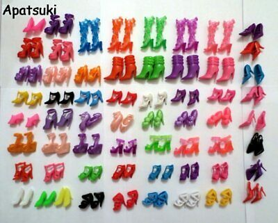 60Pairs Mixed-Styles Fashion Boots Little Toy Assorted Shoes for Barbie Doll 1:6