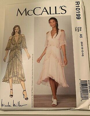 M7898 Sewing Pattern McCall/'s 7898 Special Fully Self Lined Dress Nicole Miller
