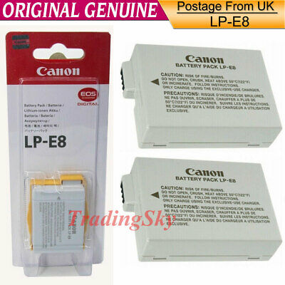 NEW Genuine Original Canon LP-E8 Battery for EOS 550D 600D X4 X5 T2i T3i LC-E8E