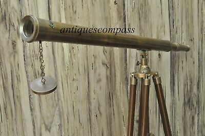 Telescope Brass Collectible Marine Navy Island With Tripod Nautical Antique Gift