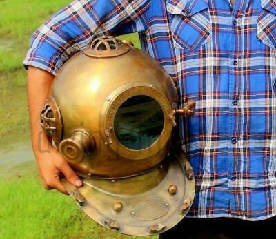 Diving Divers Helmet Deep Sea Engineering 1921 Nautical Collectible Mark IV 18""
