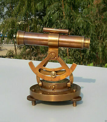 Theodolite Alidade Telescope Compass Instrument Solid Brass Antique Vintage Gift
