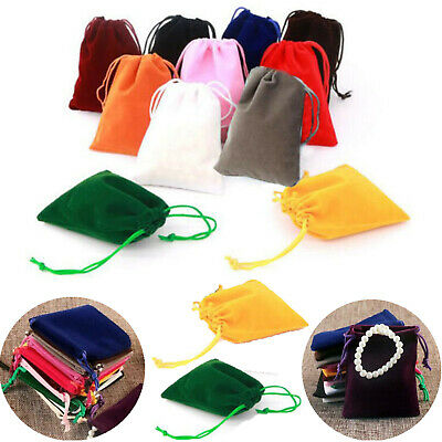 50/100X Velvet Drawstring Pouches Wedding Favors Bags Jewelry Gift Bag for Party
