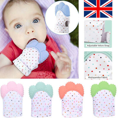 Baby Silicone Mitts Teething Mitten Teething Glove Candy Wrapper Soft Teether UK