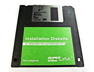 ZIP Drive Install Disk Imation Windows 95 & Win NT Driver Disk For 120mb + F.P!