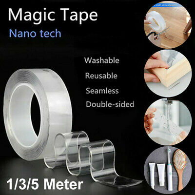 5 Meters Magic Nano Tape Waschbares Klebeband Doppelseitiges Invisible Gel Tape