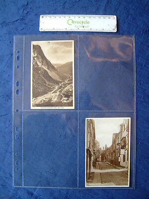 Lot of 4 pkgs of 10 EXPOSURES Scrapbook Refill Photo Postcard Pages 11.25 x 8.25