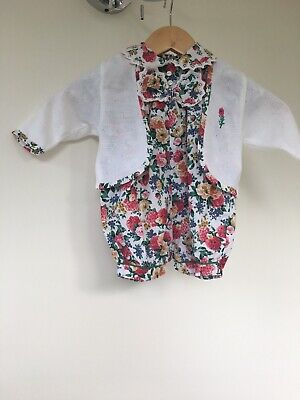 Vintage Coco 2 Piece Floral Romper Suit.  68cm. Approx 3mths. Early 1990s.