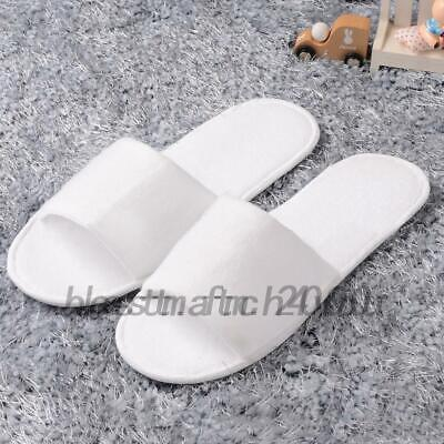 5 pairs SPA HOTEL GUEST SLIPPERS OPEN TOE TOWELLING DISPOSABLE Shoes Household