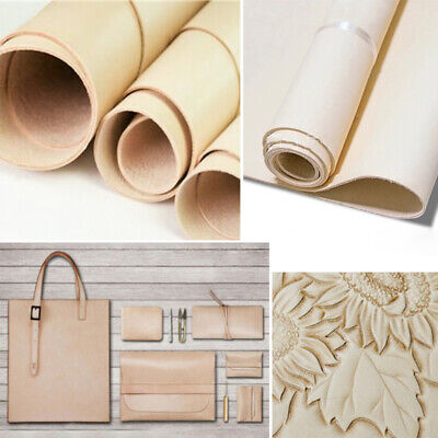Carving Leather Fabric Material Scrap 1.5mm DIY Cowhide Natural Luggage