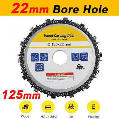 125mm Angle Grinder Disc 22mm Tooth Arbor Chain Saw Blade Cutting Culpting Wood