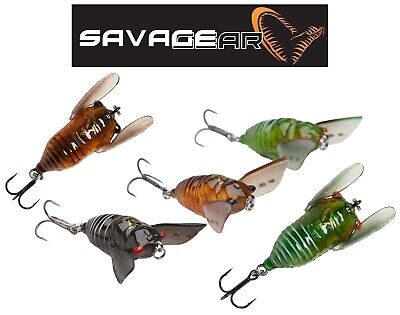Savage Gear 3D Cicada 3.3cm 3.50g Insect Bass Trout Chub Perch Topwater