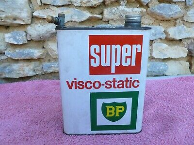 ancien bidon d'huile BP super visco-static