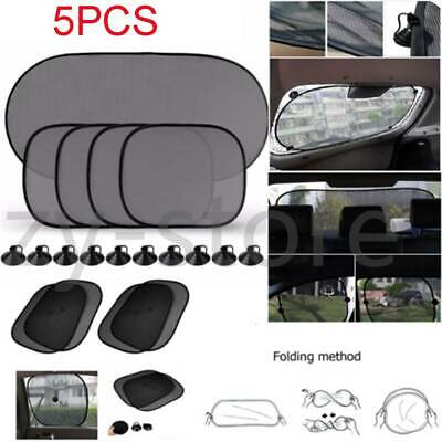 5Pcs Car Window Sun Shade Visor Screen Protector Kids Rear Side Blind UV Mesh
