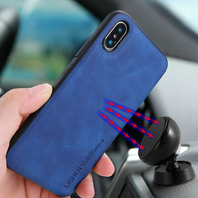 For iPhone 8 7 6s Plus Xr Xs Max Shockproof Hard Leather Luxury Phone Case Cover