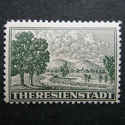 Germany Nazi 1943 MNH Concentration Camp stamp B&M Theresienstadt Issued for inm
