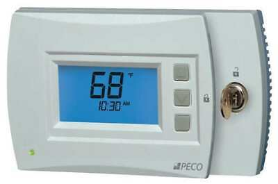 PECO T4932SCH-001 Thermostat, 7 Day Programmable, Stages 3 Heat/2 Cool, 24VAC