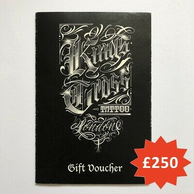 Kings Cross Tattoo Parlour - Voucher Discount Coupon - £250 - Unused