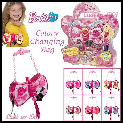 Barbie Bag Colour Changing Handbag Glam Purse & Accessories Girl's Toy Bag