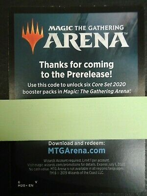 MTG Magic Arena 6x Core Set 2020 Booster Pack Code