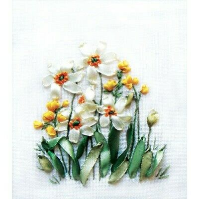 Daffodils And Buttercups Ribbon Embroidery Kit C-0941 By Panna