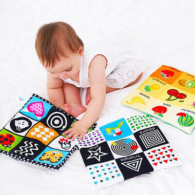 Baby Toys For Newborn Soft Cloth Book 0-12 Months Kids Learning EducationES