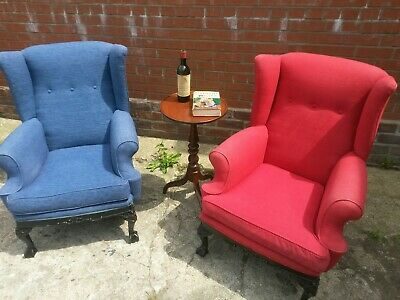antique style fireside/library chairs UK delivery available