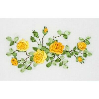 Yellow Roses Ribbon Embroidery Kit C-1089 By Panna