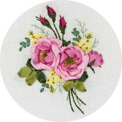 Gentle Fragrance Ribbon Embroidery Kit C-1335 By Panna
