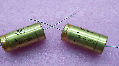 1 PC. ROE (Roederstein) high end audio axial electrolytic capacitor 47uF/385V