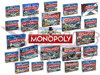 Regional and City Monopoly Family Board Games - Manchester Edinburgh Cardiff