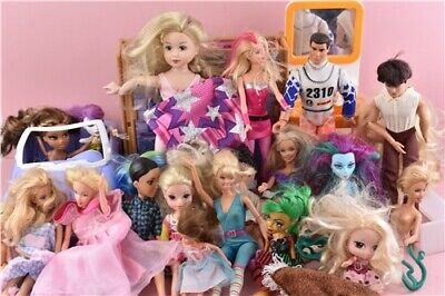 Job Lot of Character Dolls Barbie Monster High Sindy & More Children Toy
