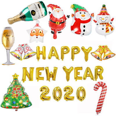 16'' Christmas Number 2020 Balloons Foil Happy New Year Letter Decor Party Decor