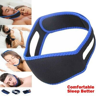 Snore Anti Snoring Strap Stop Chin Belt Sleep Apnea Jaw Solution Support Aid UK