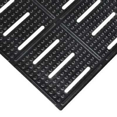 """NOTRAX 755S0023BL Black Slotted Drainage Mat 2 ft. W x 3 ft. L, 3/8"""""""