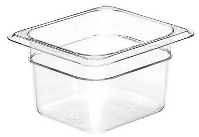 CAMBRO CA64CW135 Food Pan, Sixth Size, Clear,PK6
