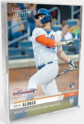 2019 Topps NOW All-Star Pete Alonso RC New York Mets Rookie Card Rookie Card HRD