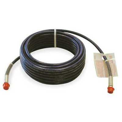"ZORO SELECT 1AGF1 1/4"" ID x 50 ft Nylon Coupled Paint Spray Hose BL"