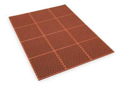 APEX T15S0034RD Interlock Drainage Mat,Red,3 ft.x4 ft.